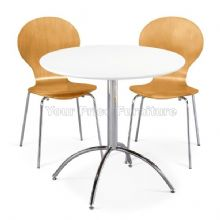 Kimberley Dining Set White Table & 2 Natural Chairs 1/2 Price Deal